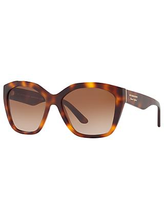 Burberry BE4261 Square Sunglasses, Tortoise/Brown Gradient