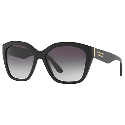 Burberry BE4261 Square Sunglasses, Black/Grey Gradient