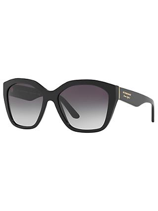 Burberry BE4261 Square Sunglasses, Black/Grey Gradient