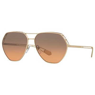 BVLGARI BV6098 Aviator Sunglasses, Gold/Grey Rose