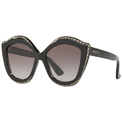 Gucci GG0118S Embellished Cat's Eye Sunglasses