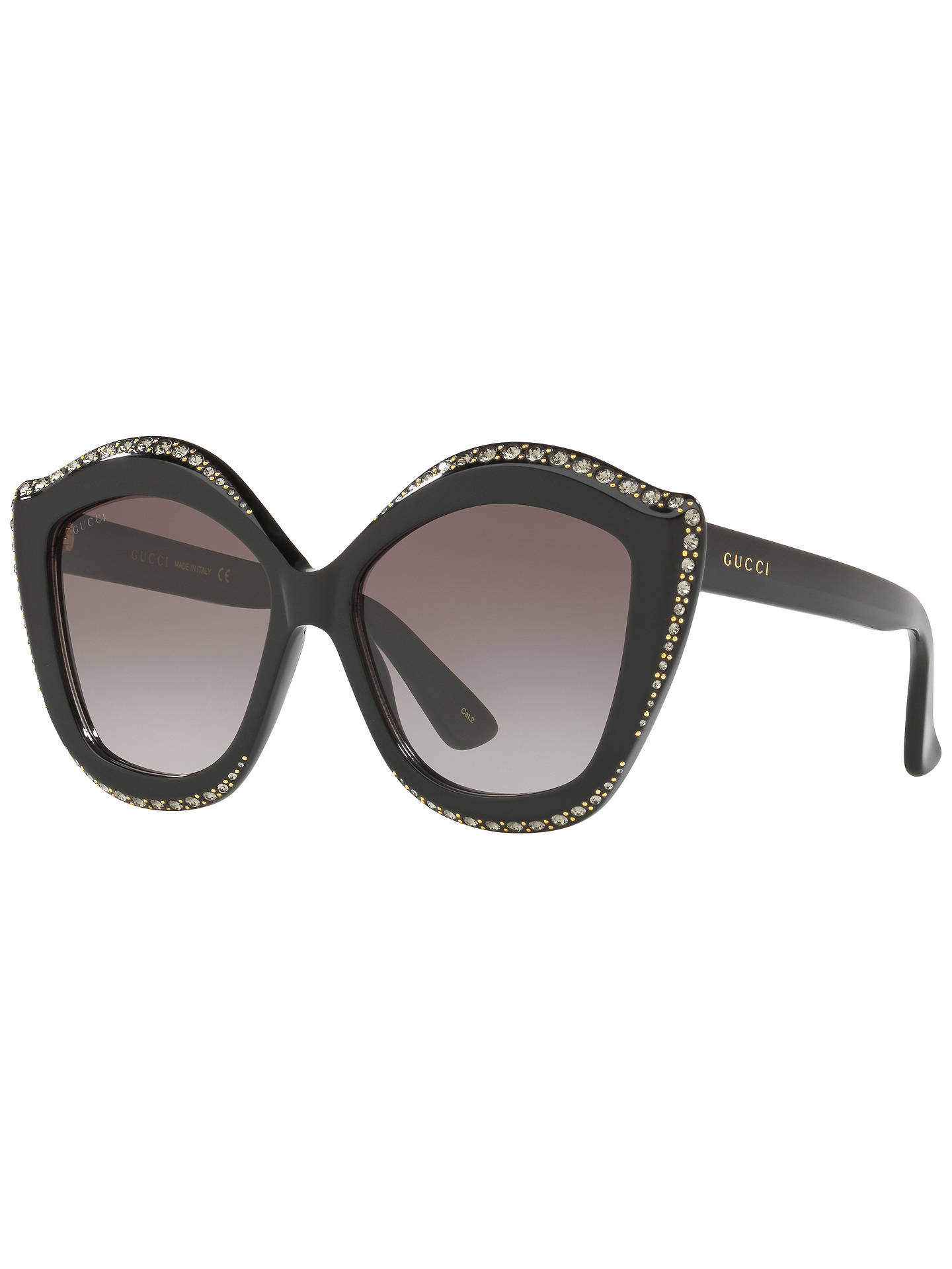 e9a4cf62027 Gucci GG0118S Embellished Cat s Eye Sunglasses at John Lewis   Partners