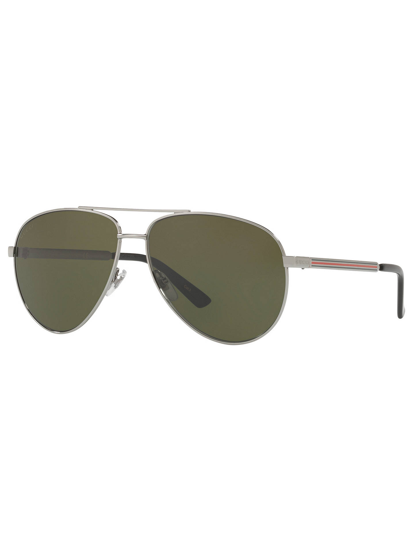 8e69583cfa62b Gucci GG0137S Aviator Sunglasses at John Lewis   Partners
