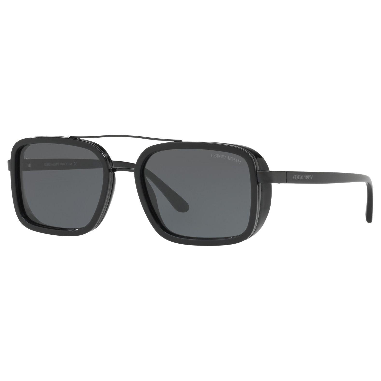 Giorgio Armani Giorgio Armani AR6063 Frames of Life Rectangular Sunglasses, Black