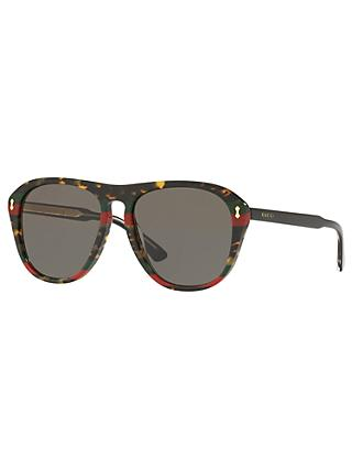 Gucci GG0128S Polarised Rectangular Sunglasses