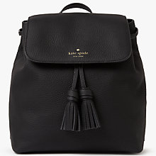 Buy kate spade new york Daniels Drive Selby Leather Backpack, Black Online at johnlewis.com