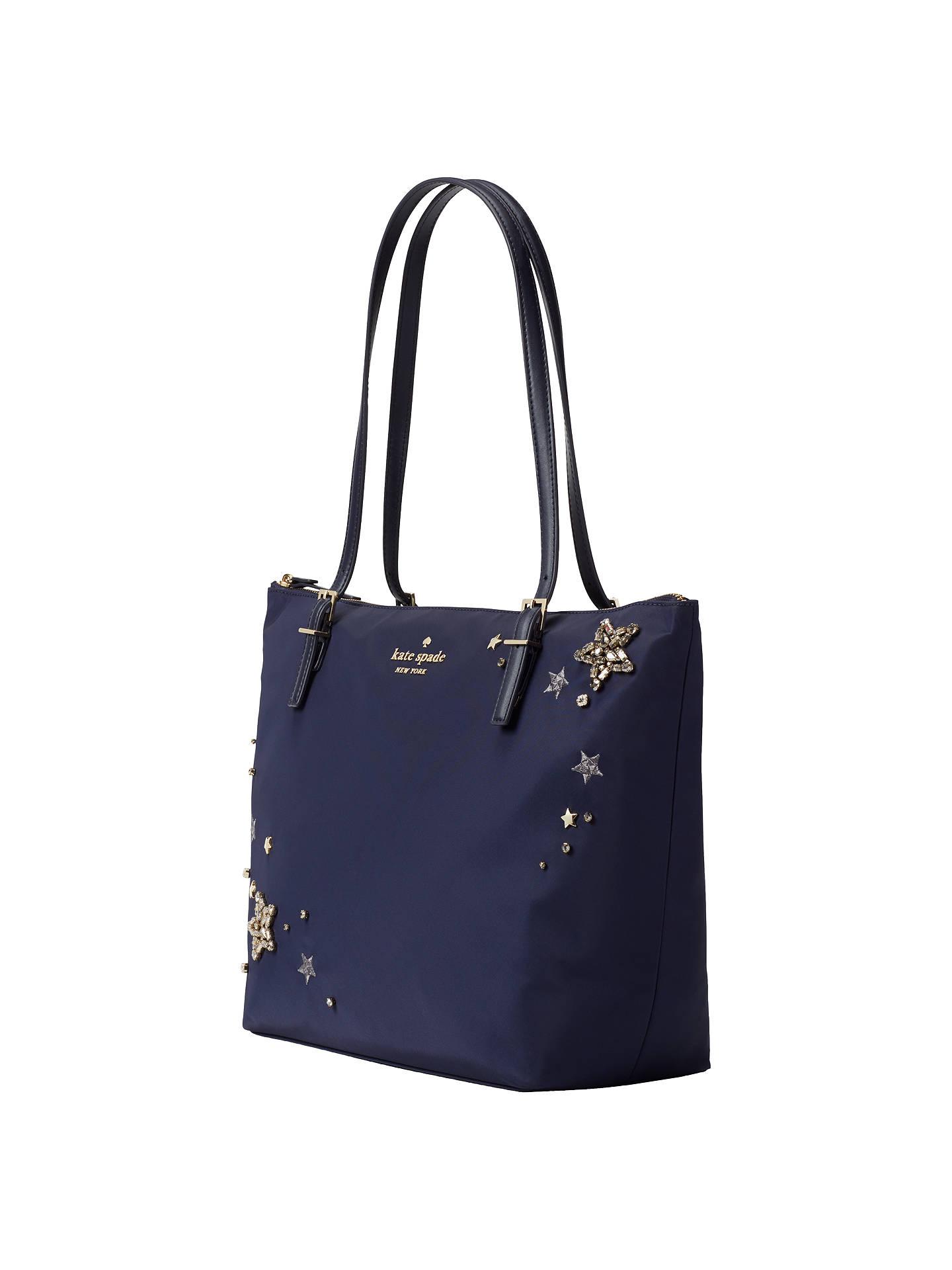 fe54615f8 ... Buy kate spade new york Watson Lane Maya Embellished Tote Bag, Navy  Online at johnlewis