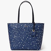 Buy kate spade new york Hyde Lane Night Sky Riley Leather Small Shoulder Bag, Navy Online at johnlewis.com