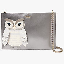 Buy kate spade new york Star Bright Owl Sima Leather Clutch Bag, Multi Online at johnlewis.com