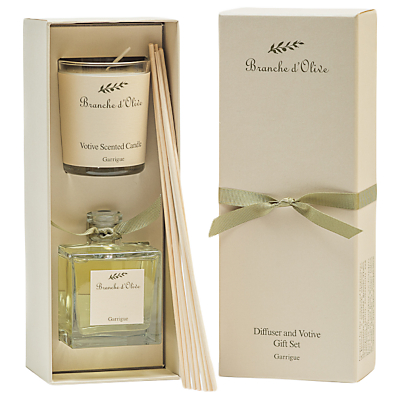 Branche d'Olive Garrigue Garrigue Diffuser & Votive Candle Gift Set