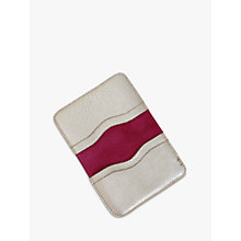 Buy Miller & Jeeves Leather Card Wallet, Platinum Online at johnlewis.com