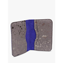 Buy Miller & Jeeves Suede Card Wallet, Grey Metallic Fleck Online at johnlewis.com