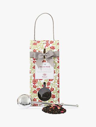 Whittard English Rose Tea Pouch and Infuser, 100g