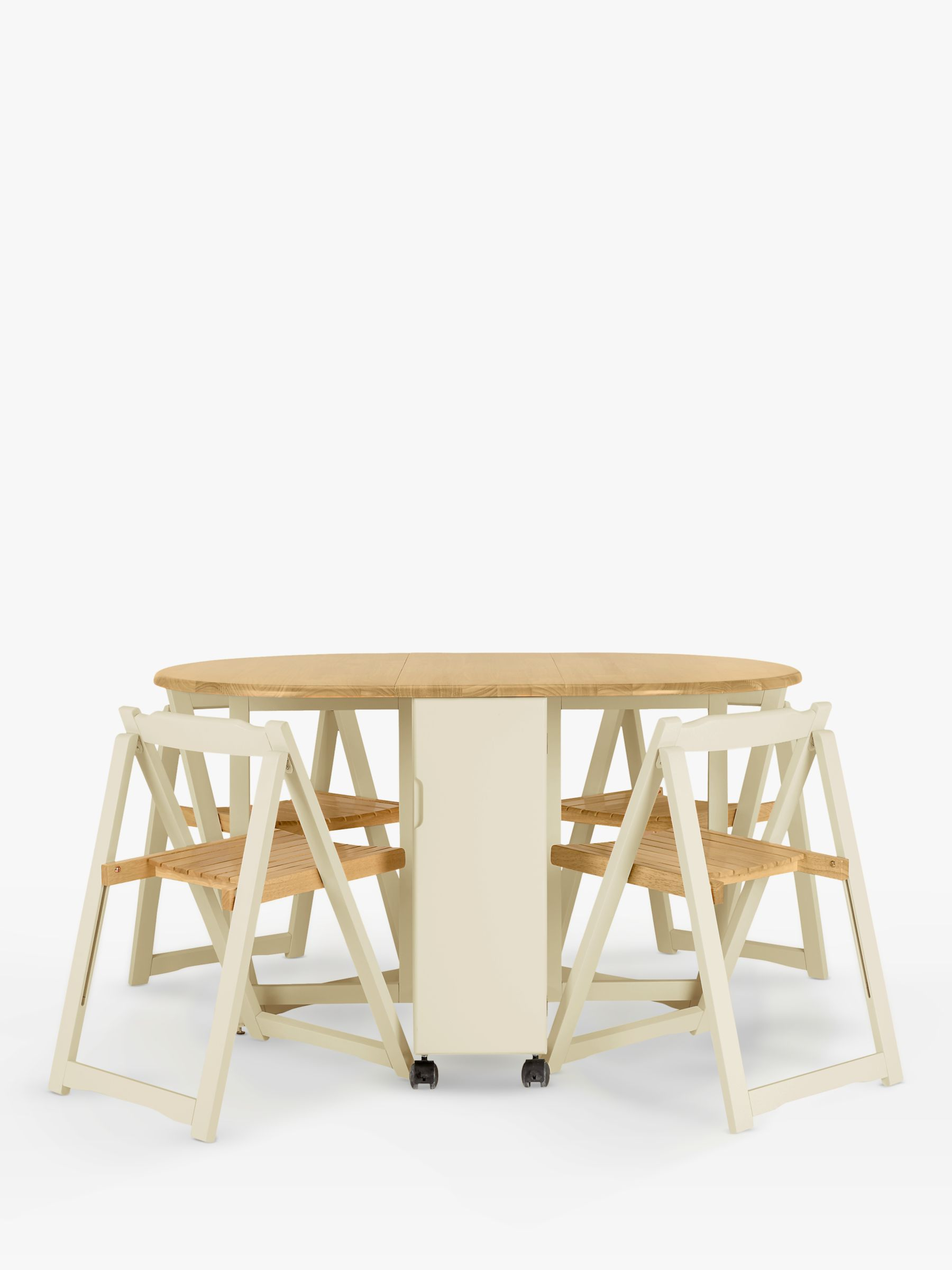 John Lewis Partners Adler Butterfly Drop Leaf Folding Dining Table And Four Chairs At John Lewis Partners
