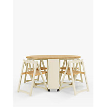 Buy John Lewis Adler Butterfly Drop Leaf Folding Dining Table and Four Chairs, Smoke Online at johnlewis.com