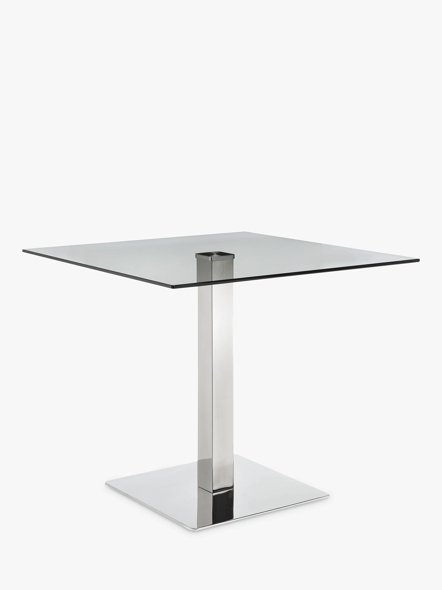 John Lewis Partners Tropez 4 Seater Square Dining Table Glasssteel