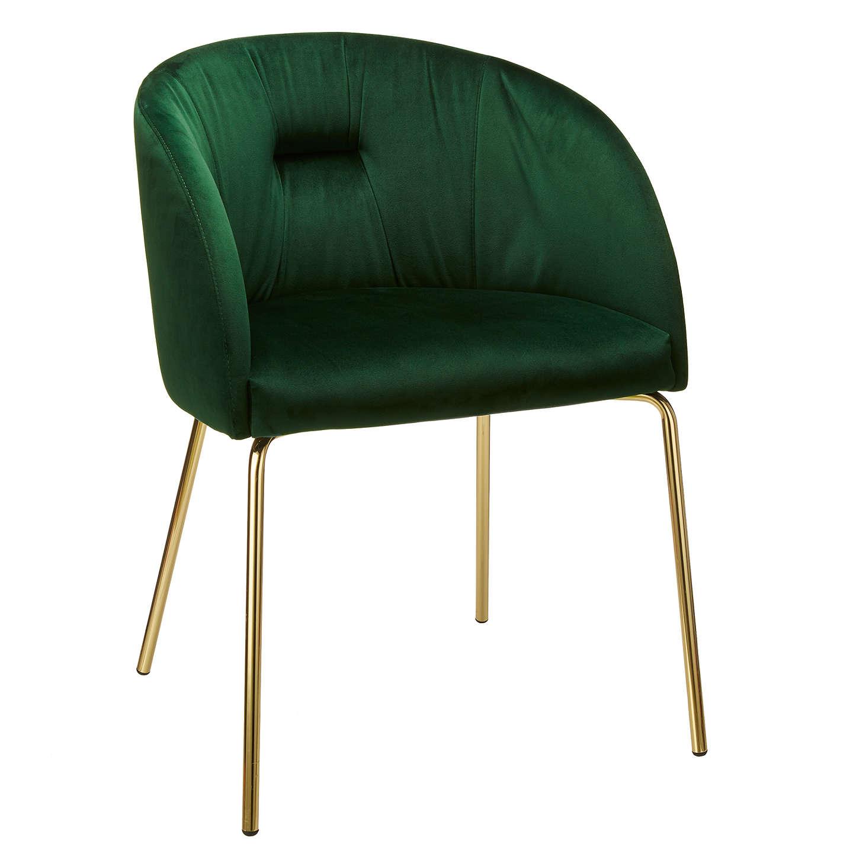 BuyJohn Lewis Harper Velvet Chair, Green Online At Johnlewis.com ...