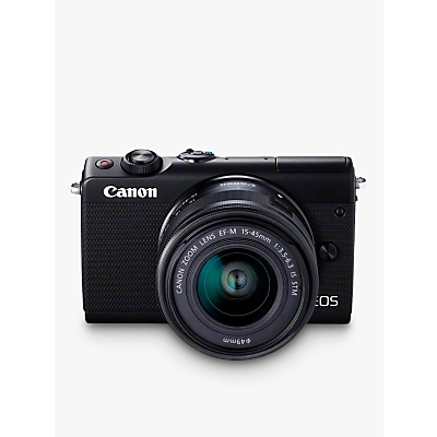 Canon EOS M100 Compact System Camera with EF-M 15-45mm f/3.5-6.3 IS STM & EF-M 22mm f/2.0 STM Lenses, HD 1080p, 24.2MP, Wi-Fi, Bluetooth, NFC, 3 Tiltable Touch Screen, Double Lens Kit, Black