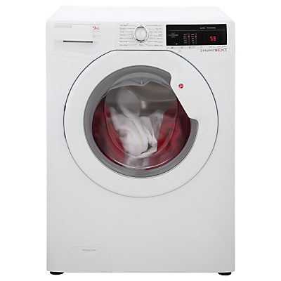 Image of Hoover DXOA49LW3 Freestanding Washing Machine, 9kg Load, A+++ Energy Rating, 1400rpm Spin, White
