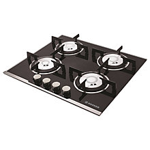Buy Hoover HGV64SXV Integrated Gas Hob, Black Online at johnlewis.com