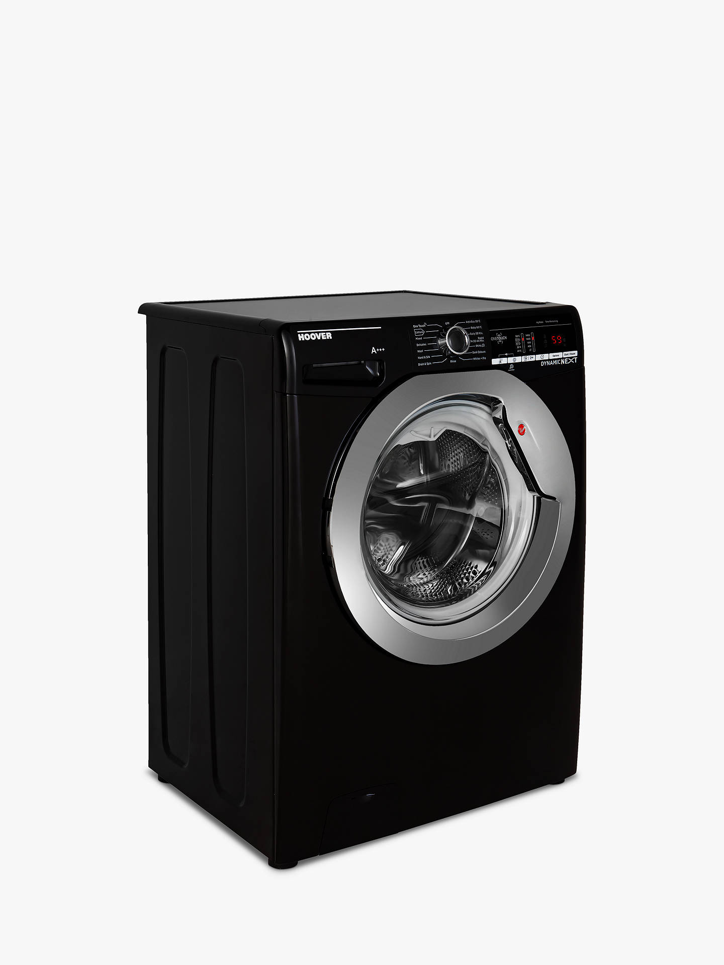 Buy Hoover DXOA49C3B Freestanding Washing Machine, 9kg Load, A+++ Energy Rating, 1400rpm Spin, Black Online at johnlewis.com