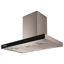 Buy Hoover HBVS985TX Chimney Cooker Hood, Black Glass/Steel Online at johnlewis.com