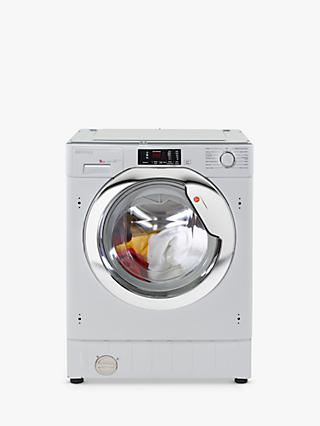Hoover HBWM 914DC-80 Integrated Washing Machine, 9kg Load, A+++ Energy Rating, 1400rpm, White with Chrome Door