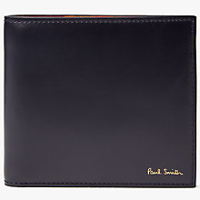 Buy Paul Smith Bright Letter Bifold Leather Wallet, Multi Online at johnlewis.com