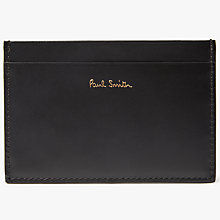 Buy Paul Smith Bicycle Leather Card Holder, Black Online at johnlewis.com