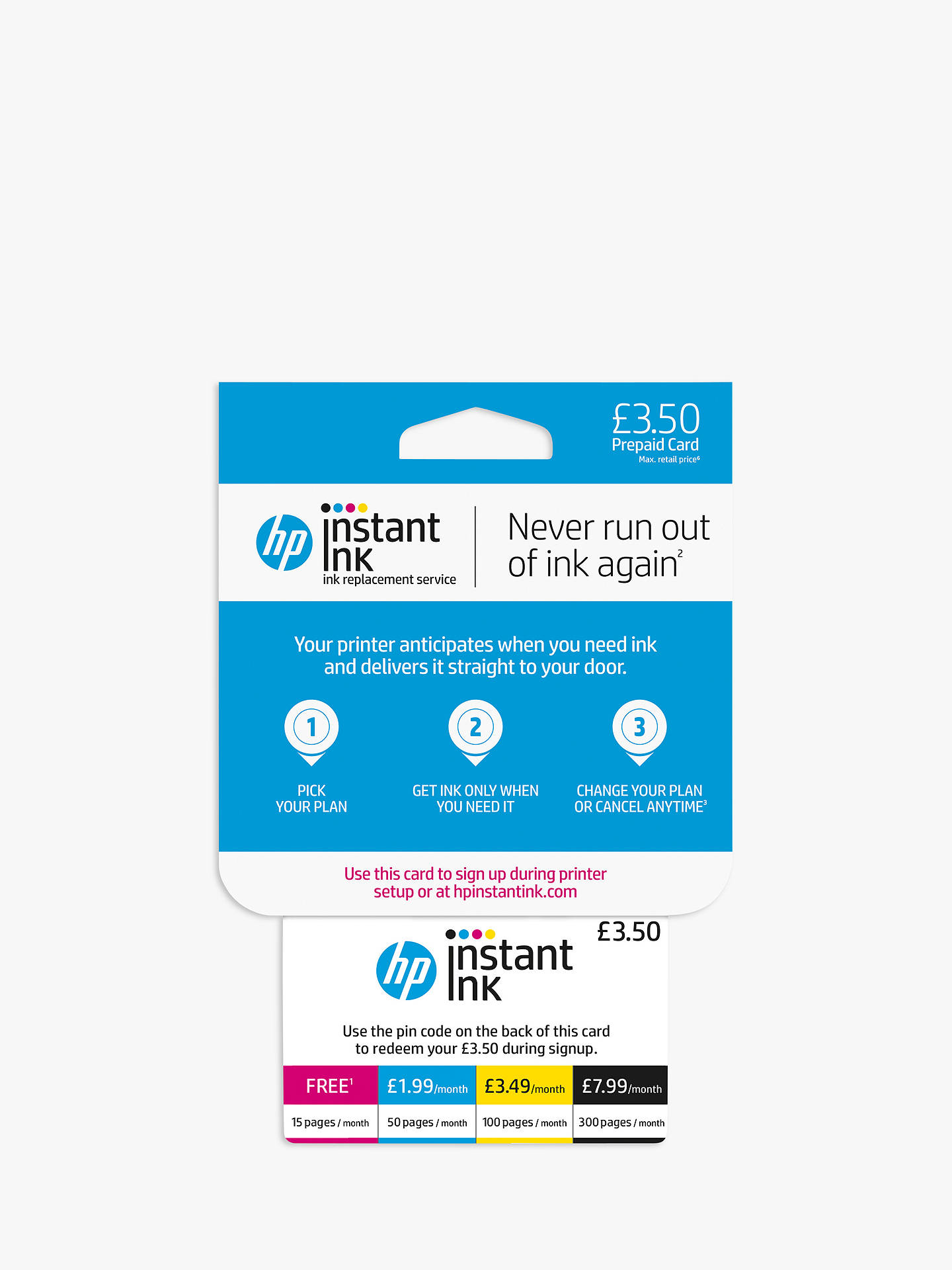 BuyHP Instant Ink Enrolment Card Online at johnlewis.com