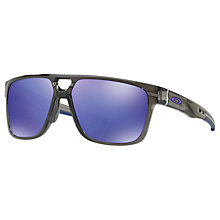 Buy Oakley OO9382 Crossrange Patch Square Sunglasses, Grey/Black Online at johnlewis.com