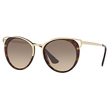Buy Prada PR 66TS Round Sunglasses, Tortoise Online at johnlewis.com