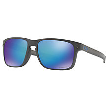 Buy Oakley OO9384 Holbrook Prizm Polarised Sunglasses, Matte Grey/Mirror Blue Online at johnlewis.com
