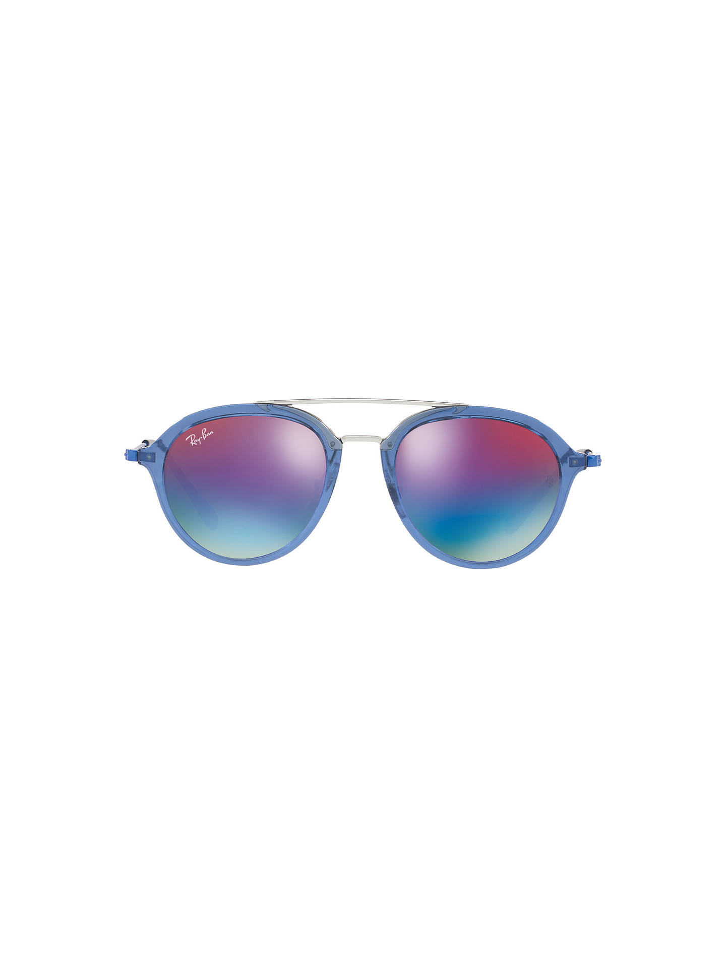 Buy Ray-Ban Junior RJ9065S Oval Sunglasses, Blue/Mirror Multi Online at johnlewis.com