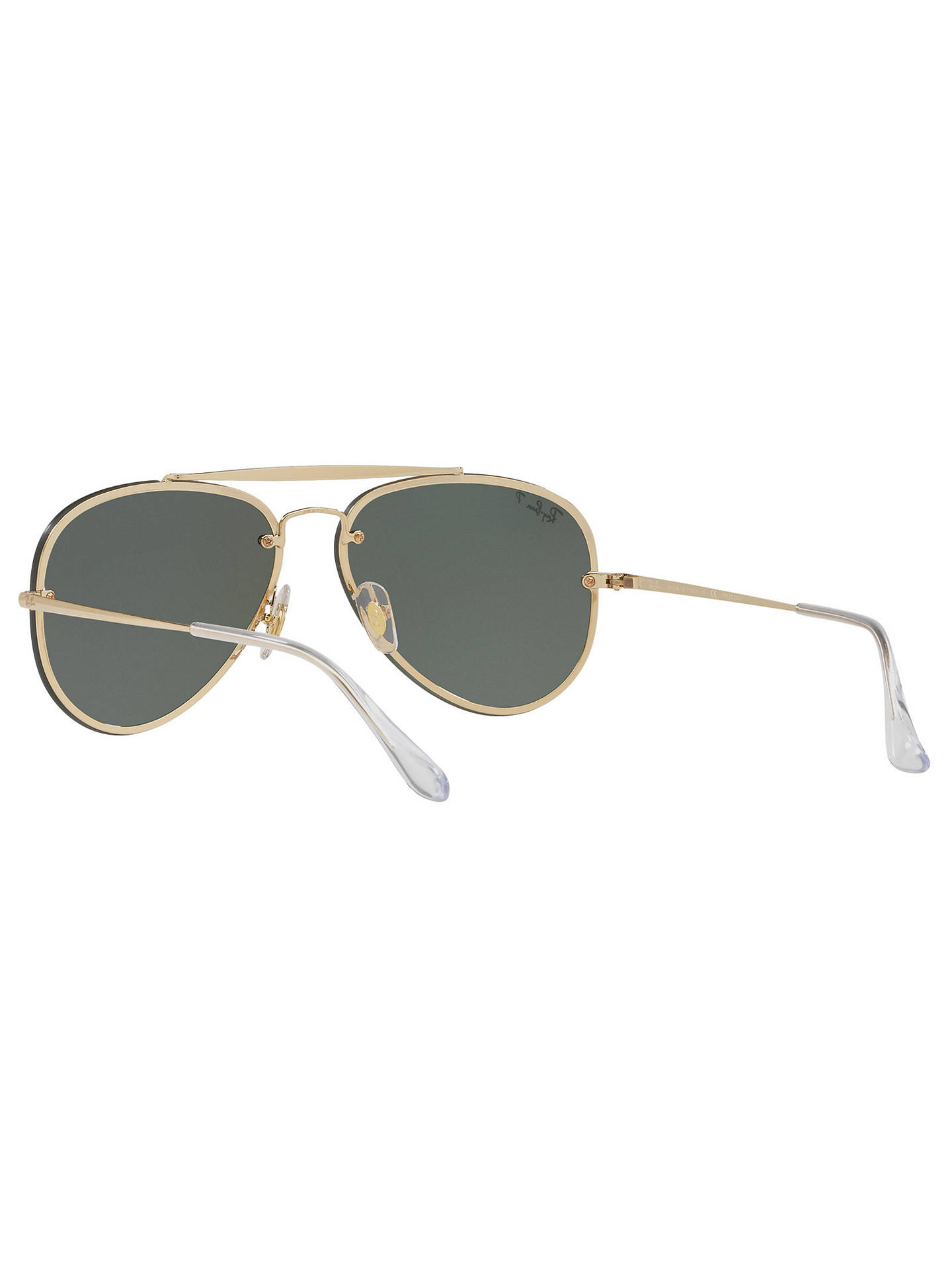 BuyRay-Ban RB3584N Blaze Polarised Aviator Sunglasses, Gold/Green Online at johnlewis.com