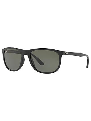1a6e852ab Ray-Ban RB4291 Polarised Square Sunglasses, Black/Grey