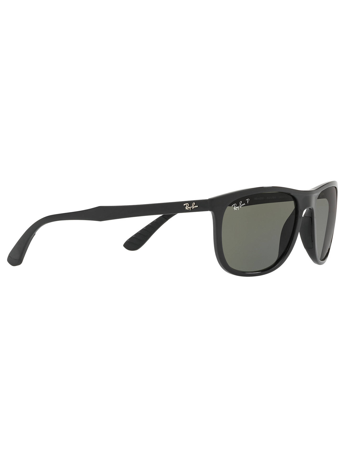BuyRay-Ban RB4291 Polarised Square Sunglasses, Black/Grey Online at johnlewis.com