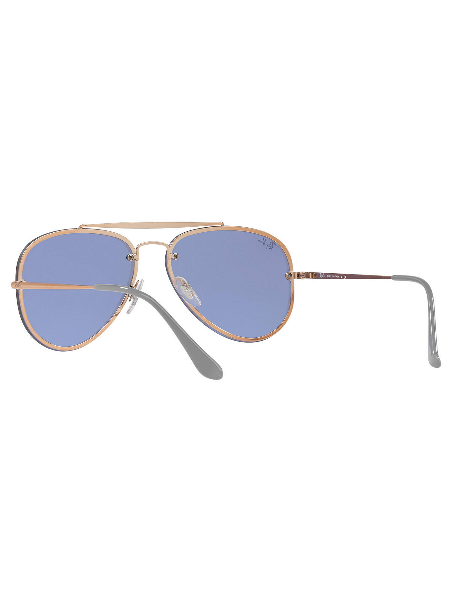 ... BuyRay-Ban RB3584N Unisex Blaze Aviator Sunglasses, Gold Mirror Blue  Online at johnlewis ... 06e44738e45f