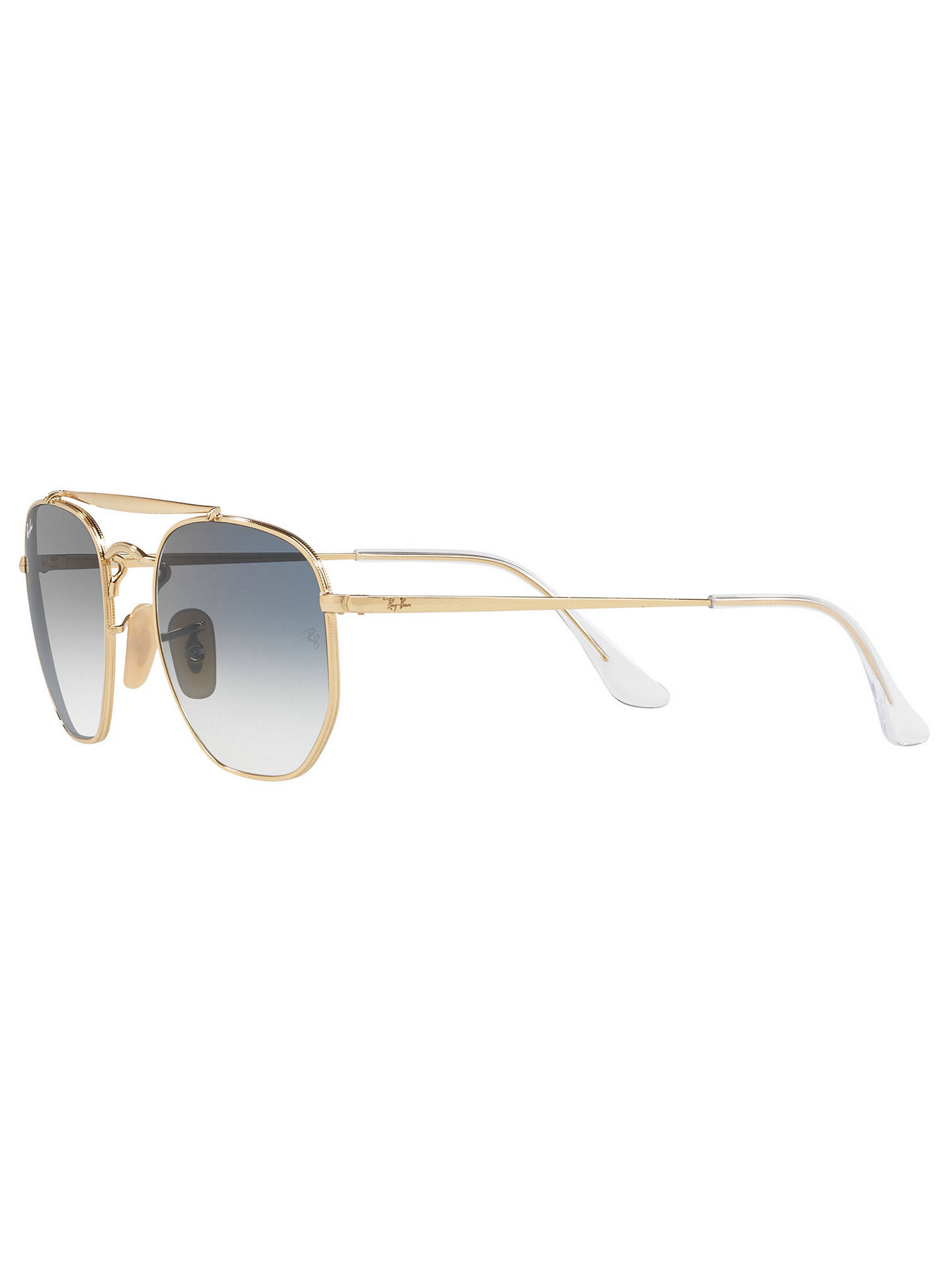 BuyRay-Ban RB3648 Square Marshal Sunglasses, Gold/Blue Online at johnlewis.com