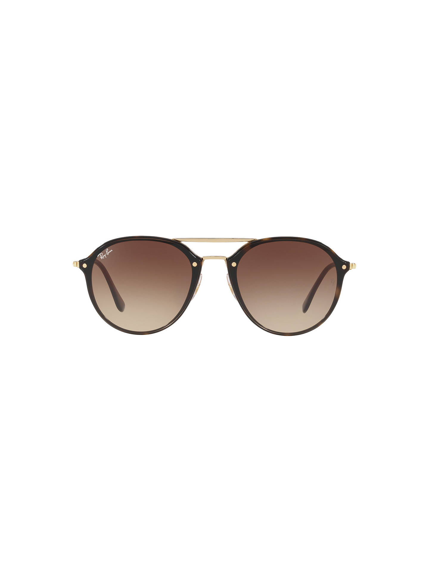 BuyRay-Ban RB4292 Oval Blaze Sunglasses, Gold Brown Online at johnlewis.com  ... 2c60683e0b97