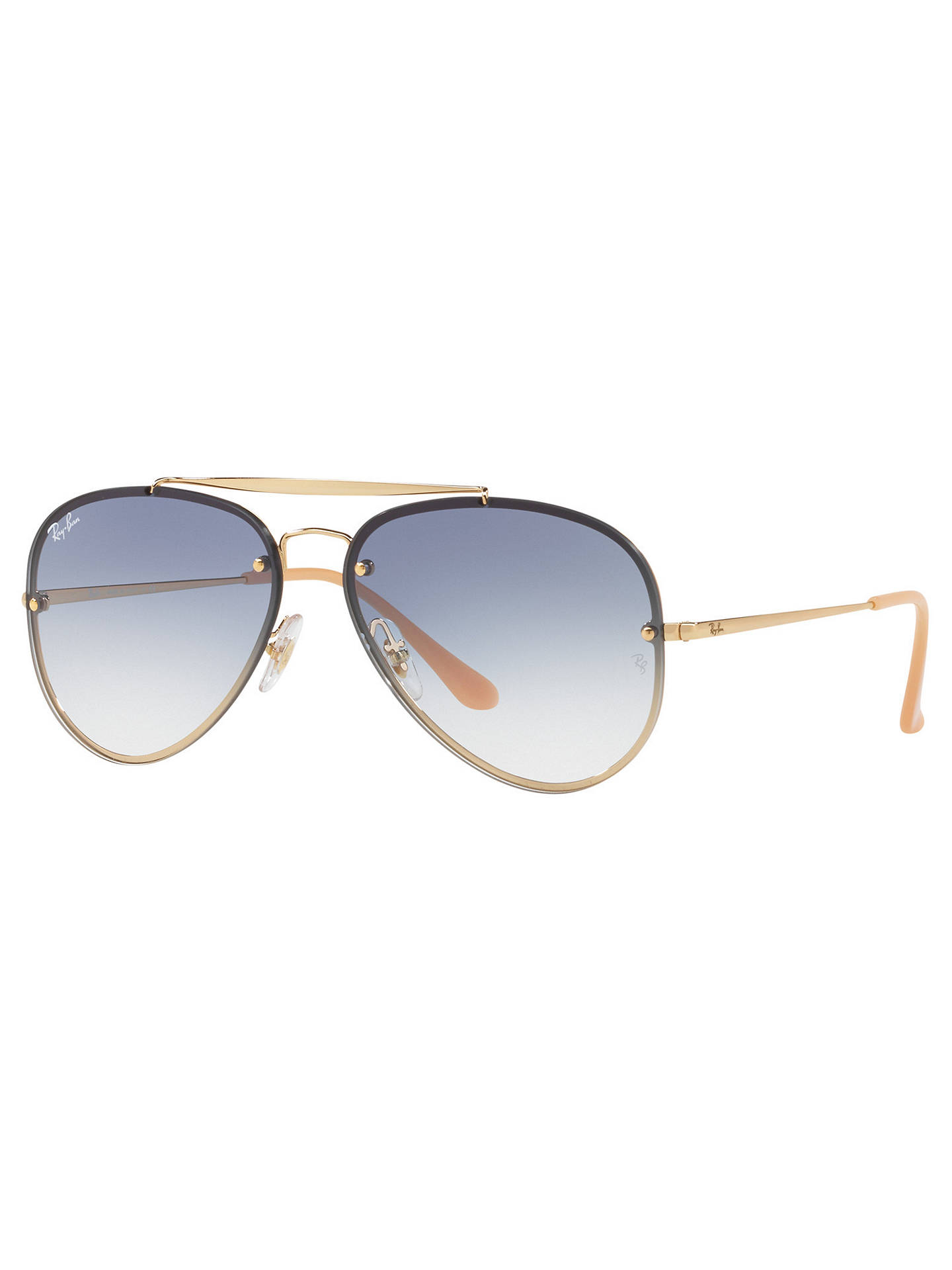 752d1f0ed Buy Ray-Ban RB3584N Blaze Aviator Sunglasses, Gold/Blue Gradient Online at  johnlewis ...