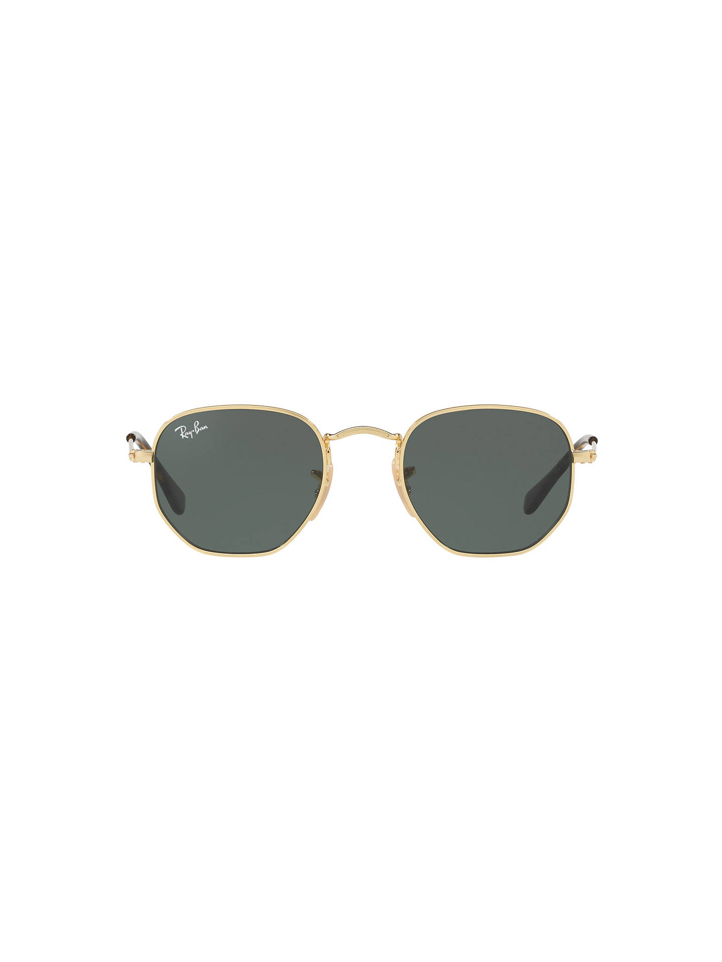 Buy Ray-Ban Junior RJ9541SN Oval Sunglasses, Gold/Green Online at johnlewis.com