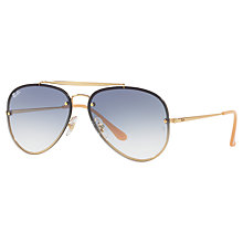 Buy Ray-Ban RB3584N Blaze Aviator Sunglasses, Gold/Blue Gradient Online at johnlewis.com
