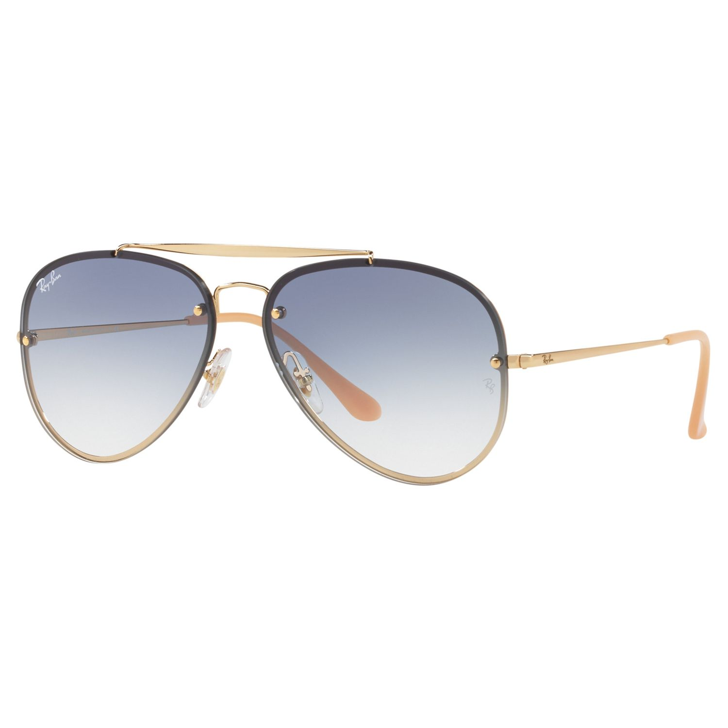 Ray-ban Ray-Ban RB3584N Blaze Aviator Sunglasses, Gold/Blue Gradient