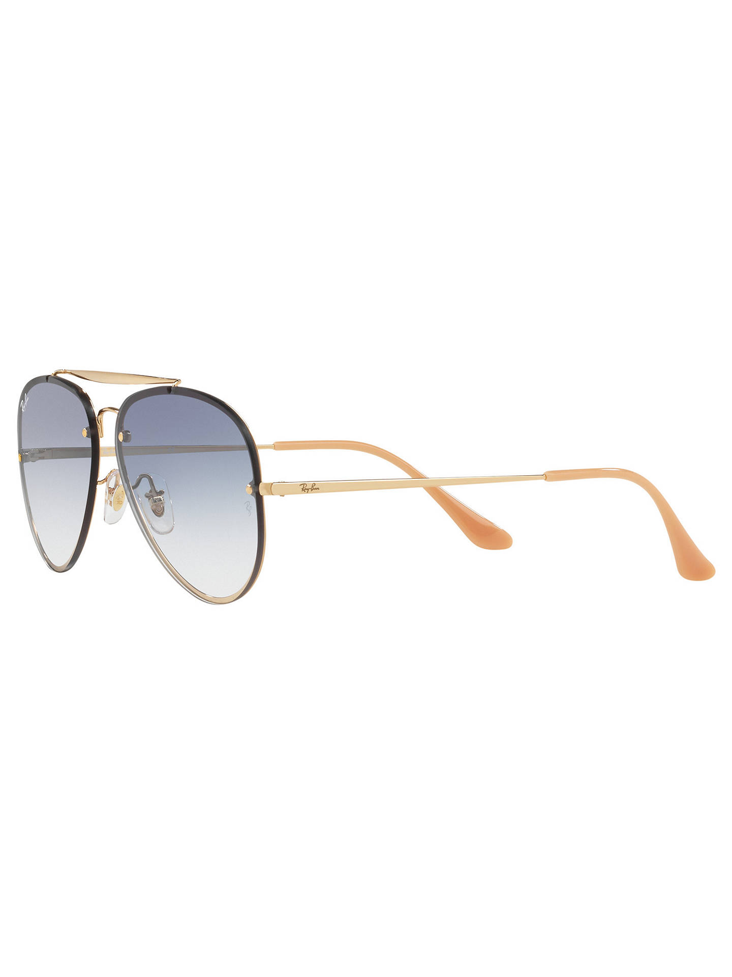 BuyRay-Ban RB3584N Blaze Aviator Sunglasses, Gold Blue Gradient Online at  johnlewis. 6f6d3e305c25