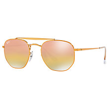 Buy Ray-Ban RB3648 Square Sunglasses, Bronze/Mirror Pink Online at johnlewis.com