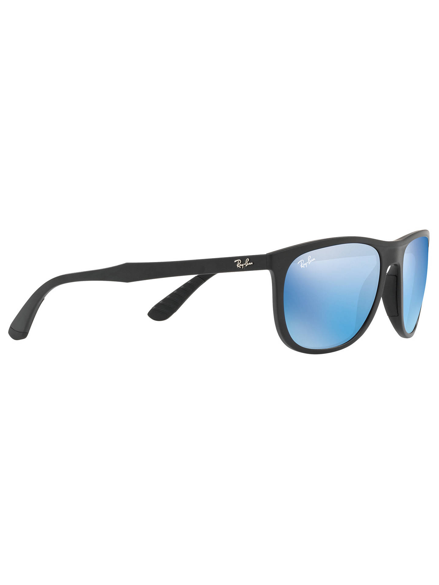 Buy Ray-Ban RB4291 Square Sunglasses, Black/Mirror Blue Online at johnlewis.com