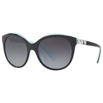 Tiffany & Co TF4133 Oval Sunglasses, Black/Grey Gradient