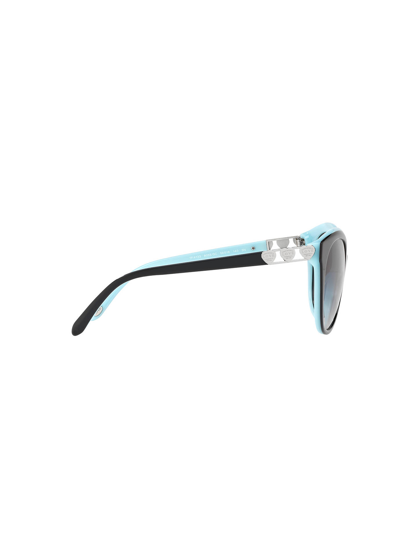 Buy Tiffany & Co TF4140 Women's Oval Sunglasses, Black/Grey Gradient Online at johnlewis.com