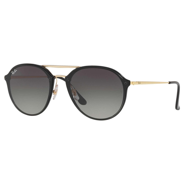 Ray Ban RB4292N Blaze Double Bridge Oval Sunglasses Black Grey